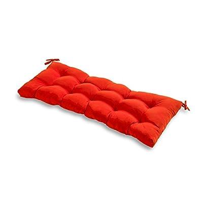 Greendale Home Fashions AZ5812-SALSA Fire 51-inch Outdoor Bench Cushion