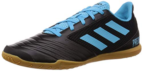 adidas Predator 19.4 In Sa, Zapatillas de Fútbol Hombre, Multicolor (Core Black/Bright Cyan/Solar Yellow F35631), 40 2/3 EU
