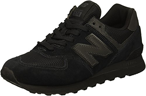 New Balance Hombre 574v2-core Trainers Zapatillas, Negro (Triple Black), 43 EU