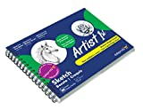 Askprints Artist Sketch Book Wiro Bound 9 x 12 inches 100 Pages