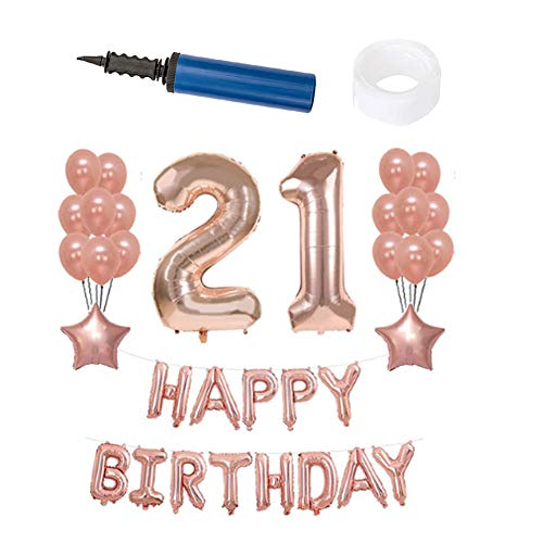 Review Of Guve Pink Birthday Decorations,27Pcs Balloons Birthday Party Decorations and Supplies Ball...