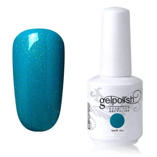 Couleur Vernis gel 15 ml Vernis laque Fond de teint Enduit Nail Art DIY (1055-shimmer Vert menthe)