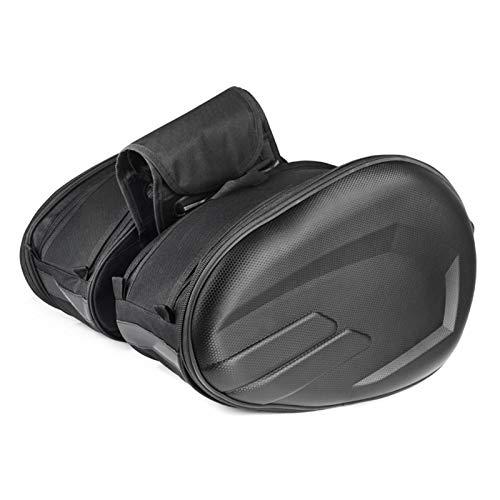 bozitian Bolsa de cola de motocicleta, bolsa de gran capacidad, bolsa de sillín de motocicleta, bolsa de asiento multifuncional, bolsa de bicicleta, mochila con asa duradera