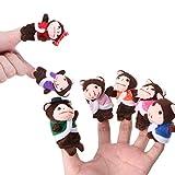 7 unids dibujos animados animal mono muñecas dedo marionetas conjunto mini felpa bebé niños niñas historia contar mano paño muñeca juguetes educativos alta calidad
