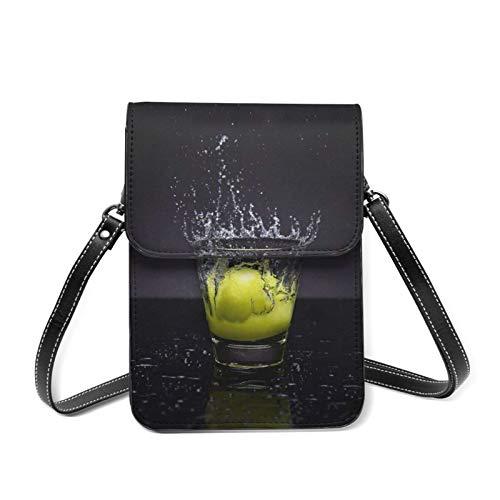 Sac à main léger pour femme avec porte-carte - Jaune - Vaporisateur d'eau en verre Citron, Taille unique