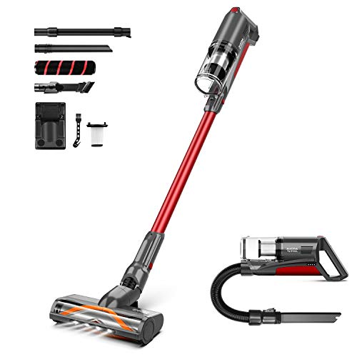 Cordless Vacuum Cleaner, Aucma by whall 5 in 1 Brushless Motor 3 Suction Modes Vacuum Cleaner up to 50 Mins Runtime Cordless Stick Vacuum with Multifunctional Brush for Home Hard Floor Carpet Pet Hair