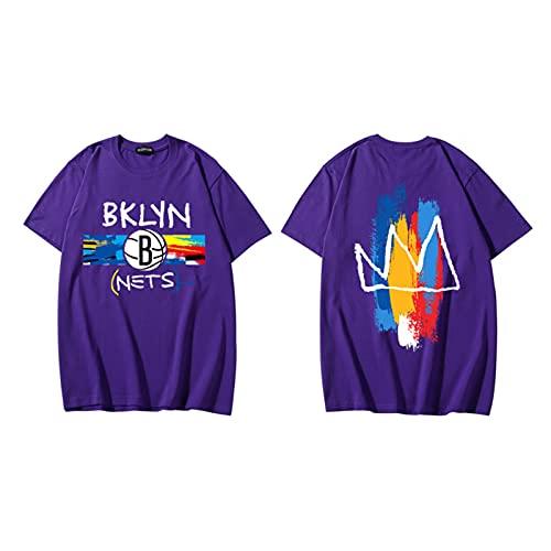 CFVB Nětš Jerseys Inicio Swingman Camisetas Transpirable Cuello Redondo Espacio Mermelada Camisas Unisex Purple-L