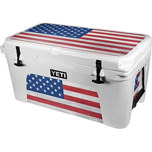 Skinit Decal Skin Compatible with YETI Tundra 65 Hard Cooler - Originally Designed American Flag Distressed Design