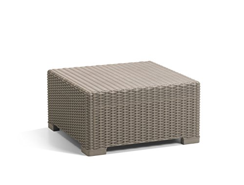 Allibert by Keter California Rattan Outdoor Coffee Table Garden Furniture - Cappuccino