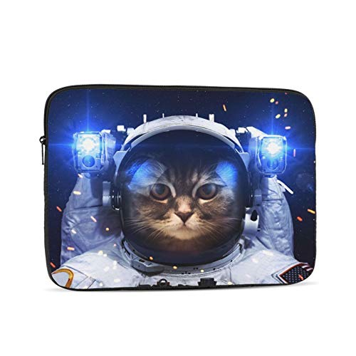 15-15.6 Inch Laptop Case Cute Astronaut Cat Notebooks Sleeve 360°Protective Waterproof Dusteproof Computer Carrying Cover Portable Zipper Laptop Bag