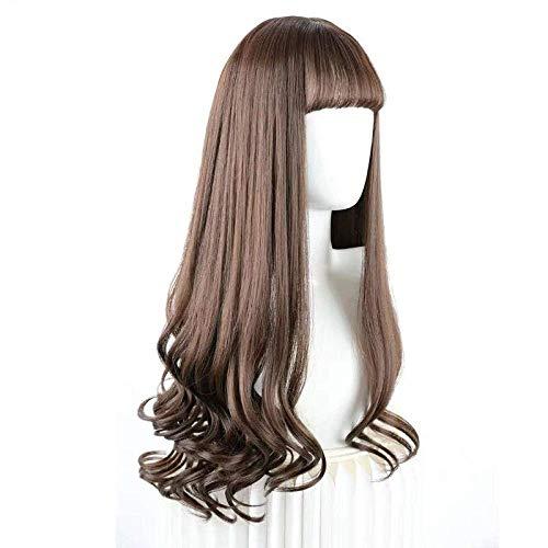 BGHJUE Wig female long hair volume fluffy natural full headgear real shot cute forced vacuum bangs long hair
