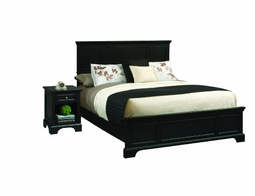 Bedford Black King and Night Stand by Home Styles
