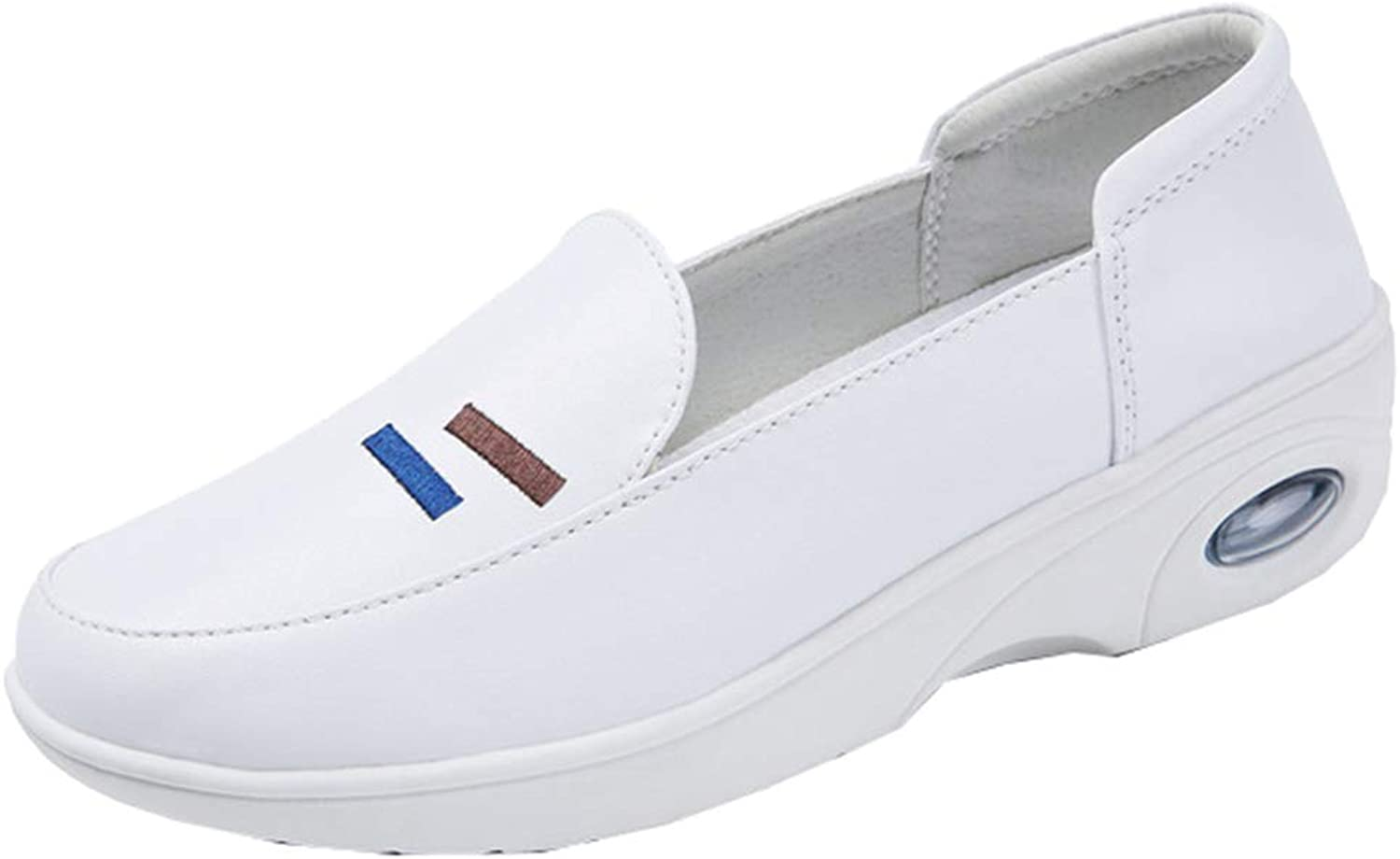 AGOWOO Womens Slip On Loafers Nursing Air Sole Anti-Slip Work shoes