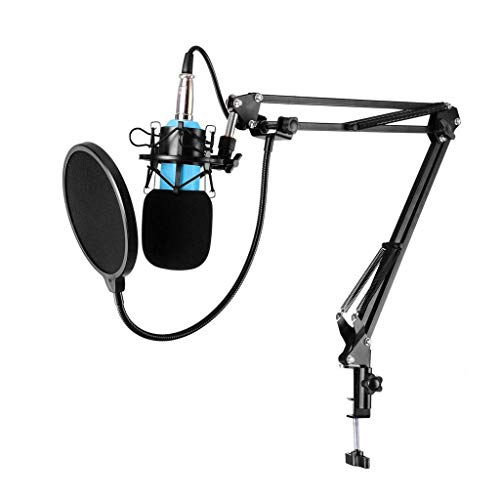 Micrófono de Escritorio, Karaoke Studio Grabación Cardiod Condensador Micrófono Conjunto KTV Cante Capacitor Música Micic con Mount Windshield // 168