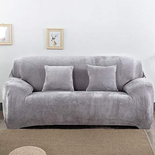 BKHBJ Cubiertas de sofá elásticas Gruesas y cálidas para Sala de Estar Funda de Deslizamiento Funda de sofá seccional con Todo Incluido Funda de sofá 1/2/3/4 plazas-H_2 Asientos 145x185cm_China