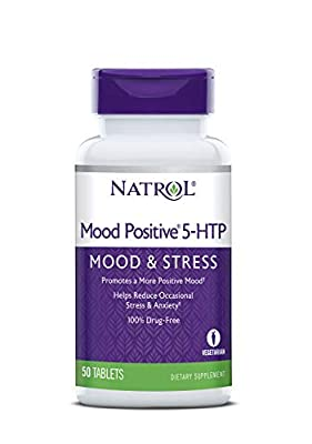 Natrol 5-HTP Mood Positive Tablets, 50 Count