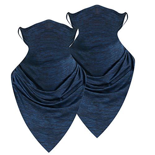 Writtian Multifunktionstuch Motorrad Mundschutz Halstuch Bandana Schlauchschal für Damen Herren Gesichtsschal tuch schal 2 Stück