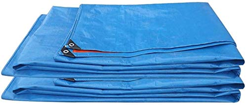 DJPB Tarpaulin waterproof tarps camping groundsheet PE Braided Lightweight Tarpaulin Outdoor Sun Shelter Tarp Waterproof Tent Roof Shade Cover Awning Garden Balcony SunShade Canopy (Size, 6x6 4PB08