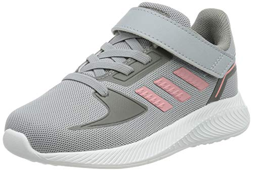 adidas Runfalcon 2.0 I Gymnastics Shoe, Halo Silver Super Pop Grey Three, 7 UK Child