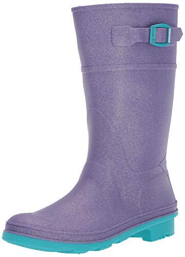 Kamik Girls' Glitzy Rain Boot PURPLE 1 M US Little Kid