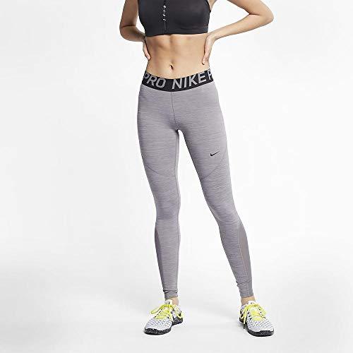 Nike Damen Pro Leggings, Gunsmoke/Heather Black, L