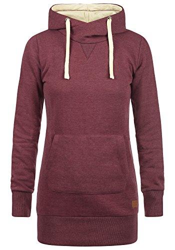 Blend SHE Jenny Damen Kapuzenpullover Hoodie Sweatshirt mit Fleece-Innenseite aus hochwertiger Baumwollmischung, Größe:XS, Farbe:Zinfandel (73006)