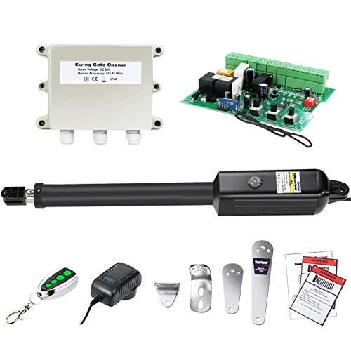 TOPENS A3 Automatic Gate Opener Kit Light Duty Single Gate Operator for Single Swing Gates Up to 12 Feet OR 300 Pounds Gate Motor
