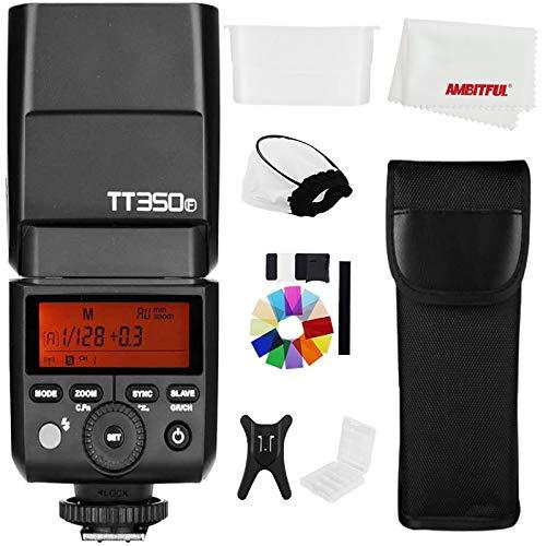 Godox TT350F 2.4G TTL - Flash estroboscópico para cámara Fujifilm HSS GN36 de alta velocidad 1/8000S para cámara Fuji (TT350F)