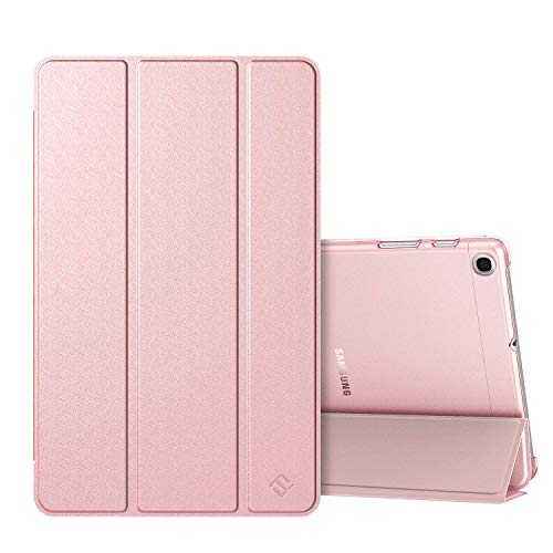 FINTIE Case for Samsung Galaxy Tab A 10.1 2019 T510 / T515 - Lightweight SlimShell with Translucent Frosted Stand Back Cover for Samsung Galaxy Tab A 10.1-inch Tablet 2019 Release, Rose Gold