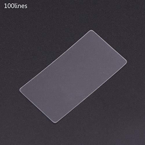 Rtengtunn 36x38mm Nano Gravur PET Transmission Beugungsgitter Ultra Präzision - 100 Lines