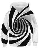 AIDEAONE Boys Hoodies 3D Print Pullover Hoody Sweatshirt Funny Hoodies with Pocket L