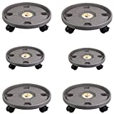 Planta Caddy Wheel Plant Stand Stand Pot Mover Mover Trolley Saucer Bandeja...