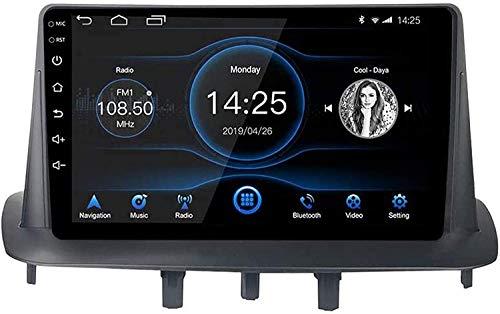 Compatible para Renault Megane 3 2009-2014 Sat Nav Android 10.1 Unidad De Cabeza FM Radio Receptor Auto Audio Player MP5 Coche Estéreo 9 Pulgadas Pantalla Táctil Navegación GPS,4 Core 4G+WiFi 1+16GB