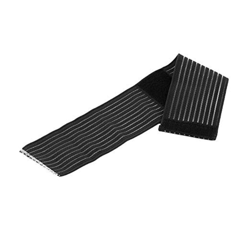 相対サイズ矢残る調整可能な弾性フィットネスコットンストレングス包帯ハンドリストストラップスポーツリストバンドサポートリスト保護ジムラップ-ブラック-1サイズ