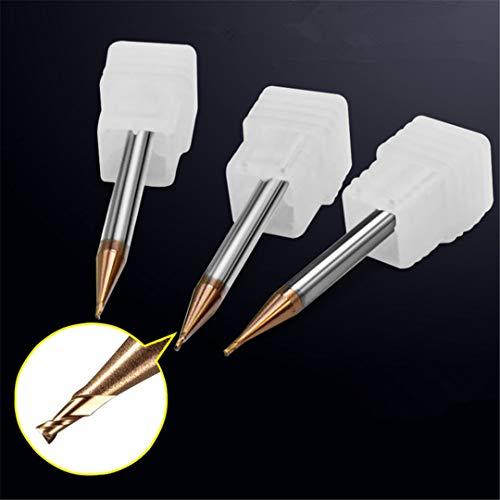 1PCS 2 Flöten Ticntungsten Carbide Schaftfräser Set HRC55 gerader Schaft CNC Toos 0.2MM / 0.3MM / 0.4MM / 0.5MM / 0.6MM / 0.7MM / 0.8MM / 0.9MM AL-0.5x4x50mm-2F