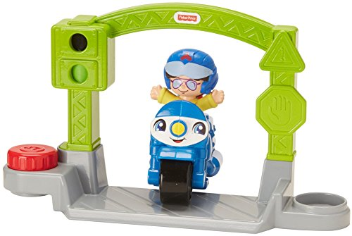 Fisher-Price Little People Vehicle Police Motorcycle, Small
