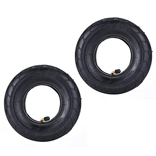 2 juegos de neumáticos y cámaras aire resistentes 8 x 2, 200 50, con vástago válvula curva, repuesto para Razor E100 E200 Schwinn Bladez Mungo Power Core E100, buggy, Epunk Crazy Cart PowerRider 360