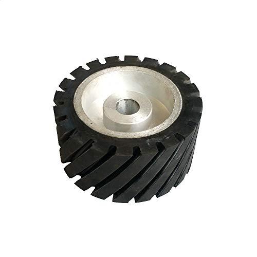Rueda de contacto de goma dentada de 150 * 75 mm, lijadora de banda equilibrada dinámicamente, juego debandas de lijado de rueda, para rodamientos 6202