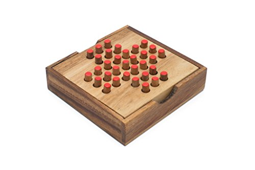 SiamMandalay's Solitaire Game - Wooden Peg Puzzle