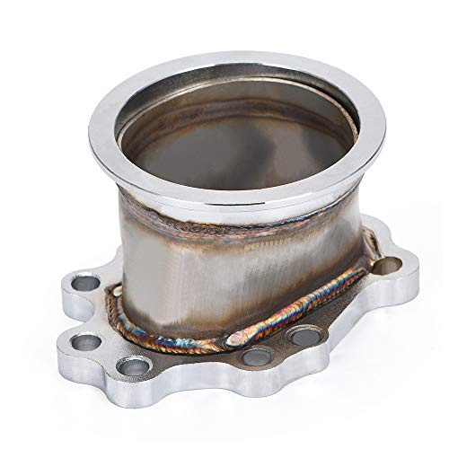 PQYRACING Turbocharger Adaptor Flange T25 T28 GT25 GT28 5 Bolt to 3' v Band Turbo Outlet DOWNPIPE Flange Adapter