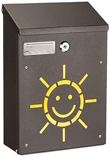 Blinky 27298-20 Sole Cassetta per Lettere in Acciaio, 21x8.5x30, Nero