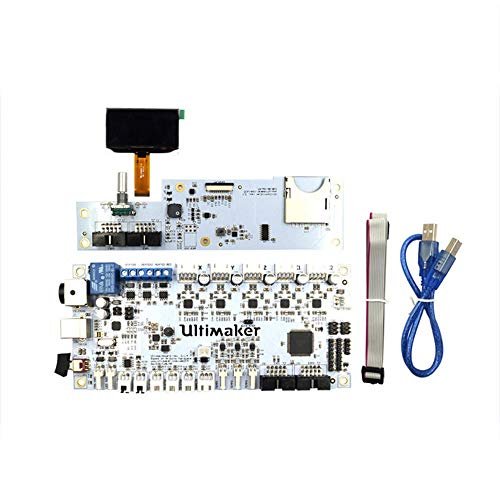 3D Printer Mainboard Ultimaker V2 Integrated Circuit Mainboard with OLED Screen Kit Support Single/Dual Nozzle Printing for 3D Printer for Connection and Operation (Color : White, Size : One size)
