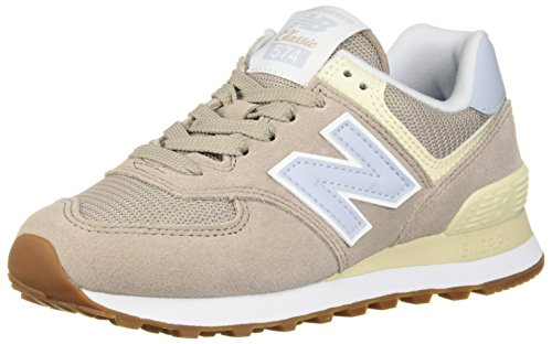 New Balance Womens 574v2 Sneaker, Flat White, 11.5 D US