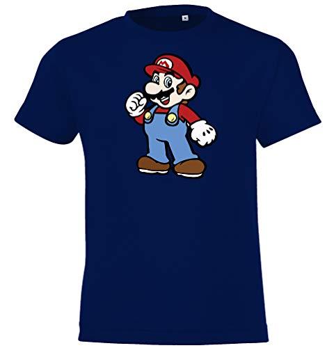 TRVPPY - Maglietta da bambino modello Super Mario 2', taglie 2-12 anni, in diversi colori blu navy 6 anni