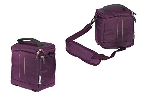 "Navitech Purple Protective Portable Projector Carrying Case and Travel Bag Compatible with The Dinly 130"" LCD Portable Video Projector Home Cinema Theater Mini Projector"