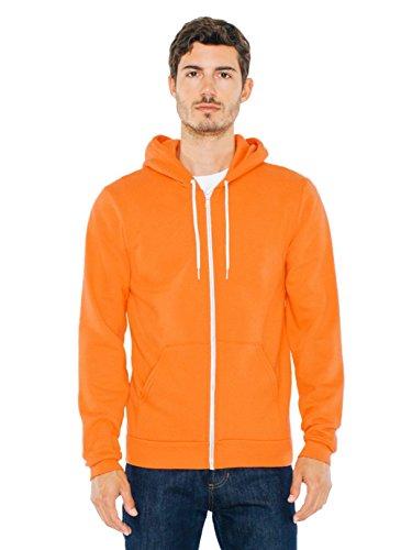 American Apparel Herren Flex Fleece Long Sleeve Zip Hoodie Kapuzenpulli, Tang, X-Large