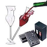 BSSN novità Bicchieri da Vino Set di 2, Creativo Sexy Coppa di Bellezza Nuda Bicchiere da Whisky Calice da Champagne per la Celebrazione del Bar per Feste a casa