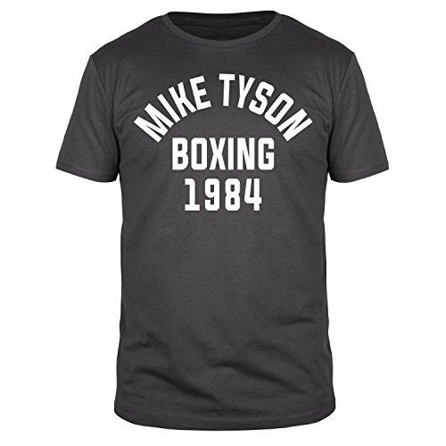 FABTEE - Mike Tyson Boxing 1984 - Herren T-Shirt Größen S-4XL, Größe:M, Farbe:Anthrazit