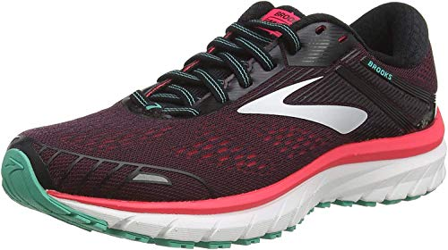 Brooks Damen Defyance 11 Running Shoe, Black/Pink/Green, 42 EU