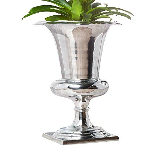 Invicta Interior Design Vase Goal Pflanzen Pokal 75 cm Blumenvase Bodenvase Übertopf Pflanzen Topf Metall-Aluminium-Legierung